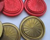 GRANDSALE Vintage buttons around 2 inches big x6