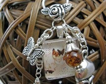 Hear No Evil Mini Glass Tile Cluster Necklace