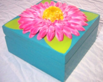 Pink Gerbera Daisy Box