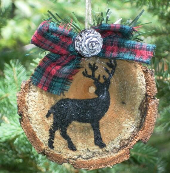 Rustic Christmas Ornament - Animal Silhouette - Buck