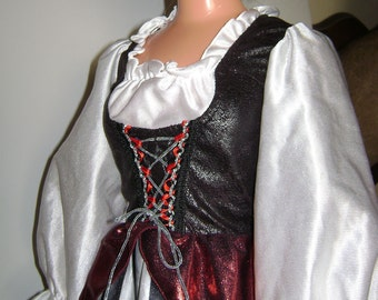 My Size Barbie Pirate Wench Costume with bubble skirt