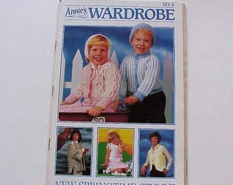 SALE - Annie's Wardrobe No. 8, New Springtime Styles, Mar. - Apr. 1986, Magazine of Crochet Patterns and More