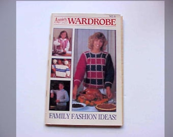 SALE - Annie's Wardrobe No. 6, Family Fashion Ideas, Nov. - Dec. 1985, Magazine of Crochet Patterns and More