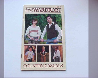 SALE - Annie's Wardrobe No. 10, Country Casuals, Jul. - Aug. 1986, Magazine of Crochet Patterns and More