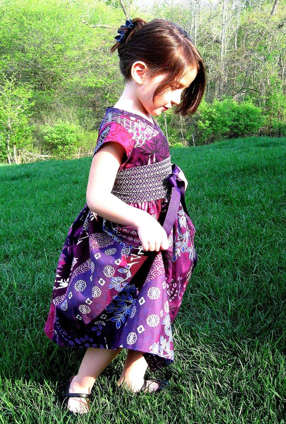 """NEW """"Plum Chinoise"""" Cross Front Asian Dress -SPECIAL EDITION-"""