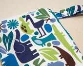 2D Zoo Pool - 10x10 Sweet Bobbins Wet Bag - SEAM SEALED - Snap Strap