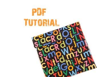 PATTERN - Snack Bag Tutorial- PDF