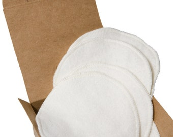 Hooter Soothers - Washable Nursing Pads - Organic Bamboo Fleece - Ultra soft & absorbant - 4 pair