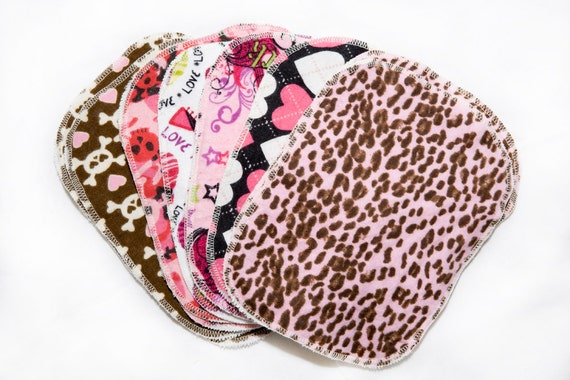 Punk Princess Mixed Print Starter Set - 12 wipes - flannel and OBV - SOFT - 6x8 size