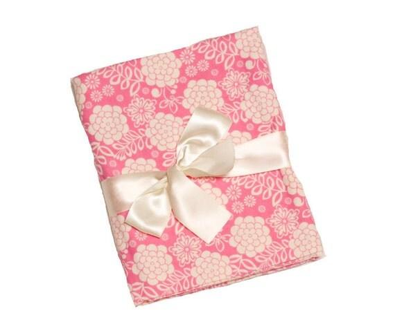 SALE - Swaddling Blanket - Dahlia Blooms - X-Large - Ultra SOFT