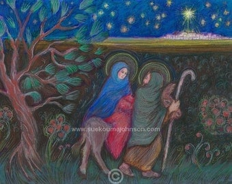 Jesus mary joseph etsy for Idea door journey to bethlehem