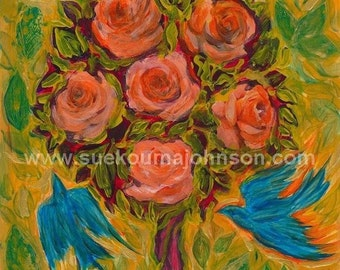 Rose Tree - archival print - Saint Therese - Mary - Mothers Gift