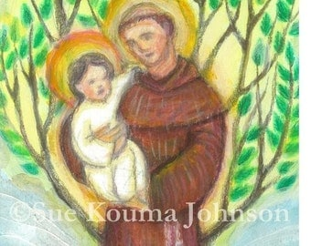 St. Anthony of Padua - Catholic Art Print - Confirmation Gift