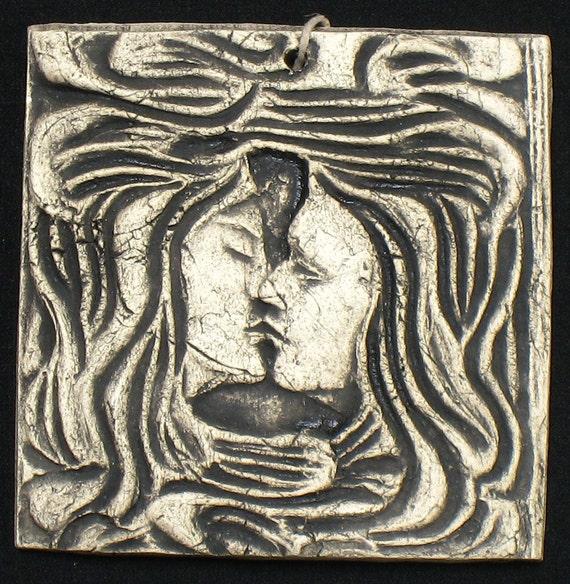 Kiss 4x4 ceramic porcelain figure relief tile