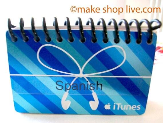 Upcycled  Address Book- SPANISH