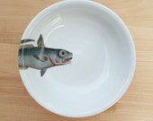 "fishy fish Cereal Bowl- ""barbichette"" - MilestoneDecalArt"