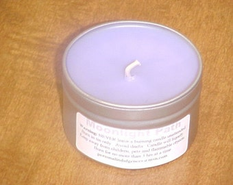Moonlight Path (type) Travel Tin Candle