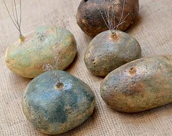 SALE. Ceramic Vases. Beach Stone.  Zen Stone Bud Vase. Nature Inspired Vase. Hand Built Ceramics. Zen Ceramics.