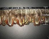 Ringneck Pheasant feather fringe of natural 10 yards trim
