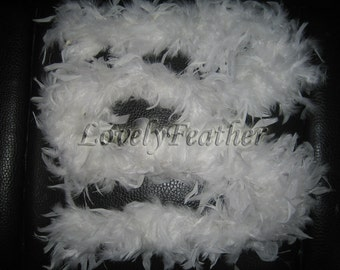 white Chandelle feather Boas 45 grams 2 yards long craft