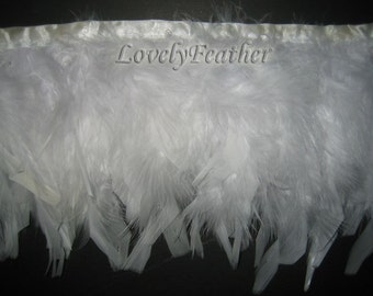 Chandelle Feather fringe of white color 12 yards trim