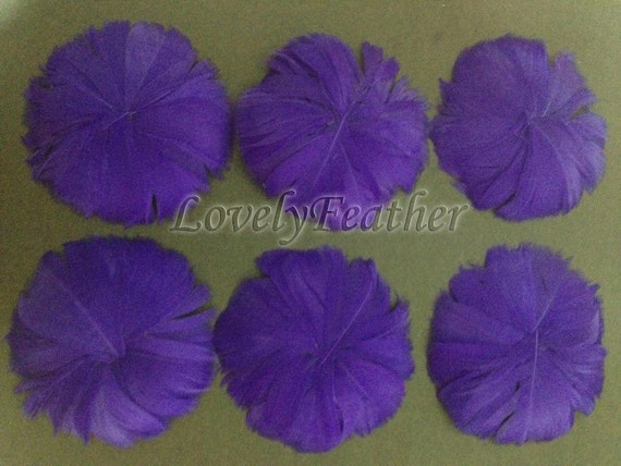 10 Pieces purple goose feather pin brooches