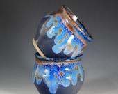 Tea Bowl / Tea Cup / Yunomi - Set of 2 / in Purple Rain Glaze - Holds 6 oz each - Wheel Thrown Stoneware Clay
