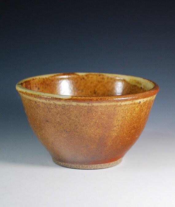 Small Bowl in Cinnamon Glaze / Wheel Thrown Pottery in Stoneware Clay
