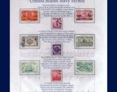 US NAVY NAVAL HYMN US Stamps Collection and Artwork