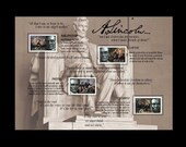 ABRAHAM LINCOLN HISTORIAL STAMP ARTWORK Terrific appreciation gift for that special teacher or historian.