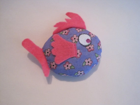 Cat Toy - Filled to the Gills with Catnip - Fish Cat Toy Filled with Organic Catnip