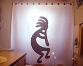Kokopelli Shower Curtain bathroom decor kids bath Native American Fertility Deity Music Flute Player God