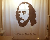 To Pee or not to Be Funny Shower Curtain Shakespeare William Bathroom Decor Kids bath Hamlet  poetic toilet humor the bard