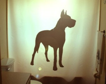 Great Dane Dog Shower Curtain kids bathroom bath decor Danish Hound Gallant