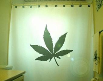 Marijuana Leaf Shower Curtain Cannabis Hemp Weed Leaf Bathroom Decor Bath unique