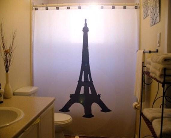 Eiffel Tower Shower Curtain Paris Bathroom Decor Kids bath