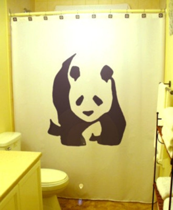 Panda Bear Shower Curtain Panda kids by CustomShowerCurtains