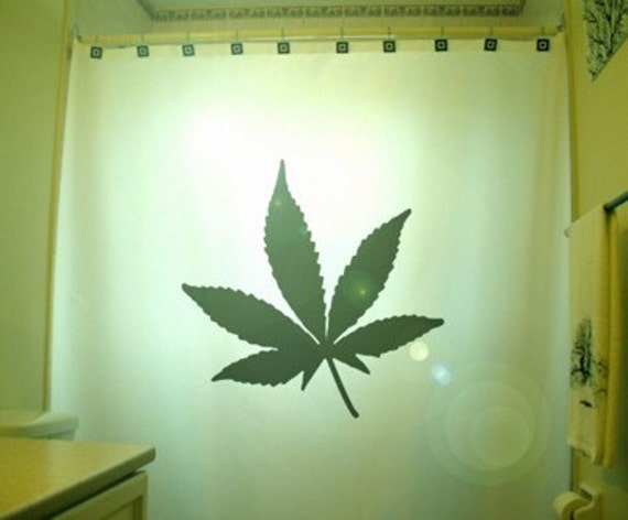 Marijuana Leaf Shower Curtain Cannabis Hemp Weed Leaf Bathroom
