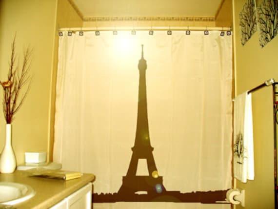 Eiffel Tower Shower Curtain Paris France Bathroom Decor Kids Bath La Tour Gustave Eiffel Champ De