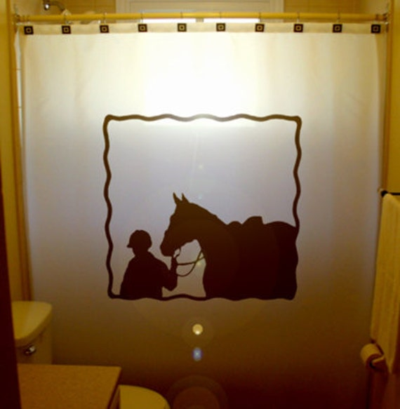 curtain western theme bathroom kids bath decor cowboy polo player