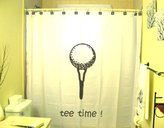Https Www Etsy Com Listing 102445711 Tee Time Golf Shower Curtain Golfing