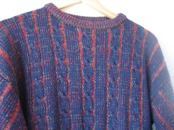VTG Cable Knit Psychedelic Sweater