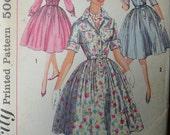 Vintage 1950's Simplicity Junior Misses' Shirtwaist Dress Pattern - Size 13