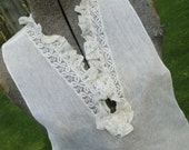 Vintage 1960's White Lace Dickie...Barouche Original
