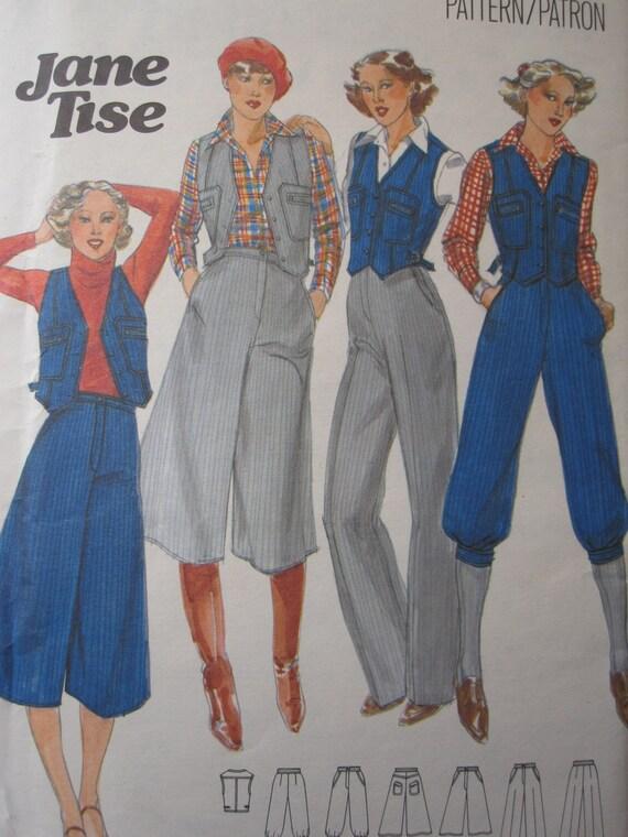Vintage 1970's Misses' Vest, Culottes, Pants & Knickers Pattern - Size 14