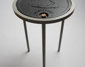 Nantucket Polpis Water Meter Cover Accent Side Table
