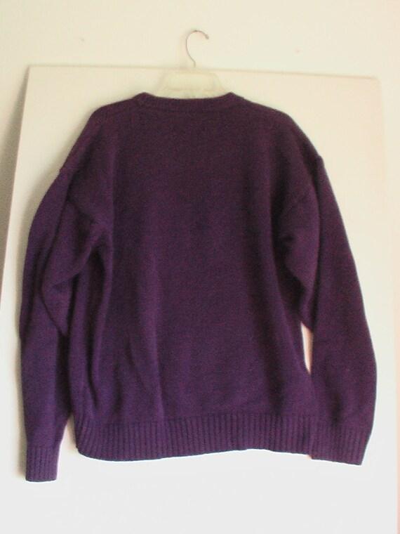 Men's 80s purple sweater Large 46 48 Square Pegs new wave punk