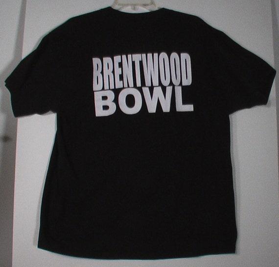 black tshirt punk bowling shirt Brentwood Bowl XL 46 48
