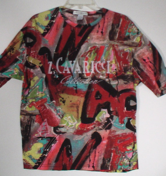 Z. Cavaricci men's tshirt t-shirt 80s graffiti punk pop art breakdance New York street style 40 42 Medium
