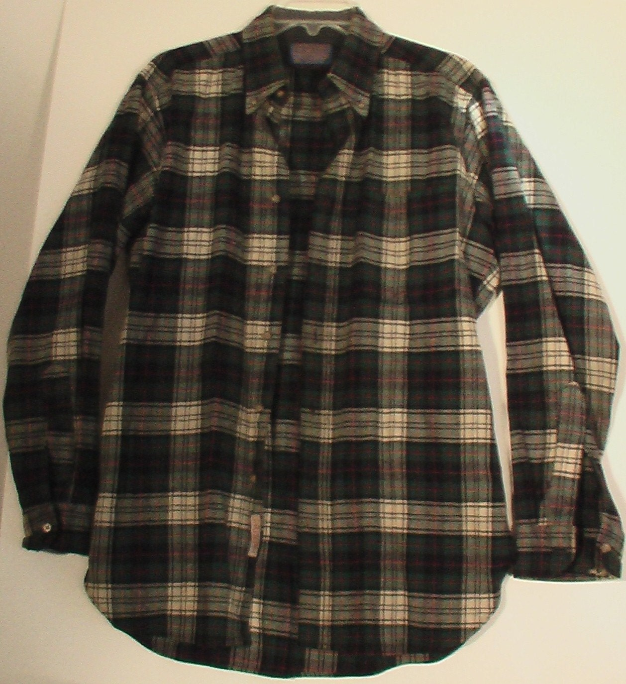 Men 39 S Vintage Pendleton Wool Flannel Shirt Grunge 50s